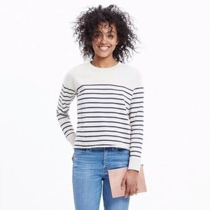 Madewell   cropped sweatshirt in stripe XXS 0671